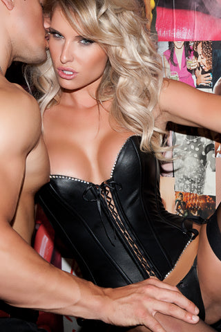 Sultry Leather Corset