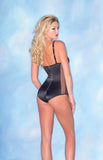 Spandex Bodysuit with Chain-Like Straps