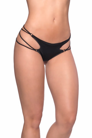 Microfiber Thong with Strappy Sides