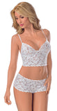 All Lace Boy Short Cami Set
