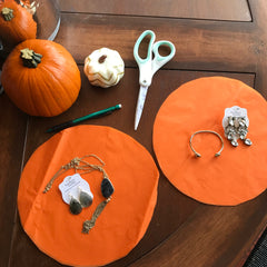 A craft showing how to make a pumpkin out of tissue paper.  Perfect for Fall and Halloween themed gifts! Could include candy, jewelry and more!