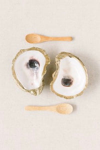 Gilded Oyster Shell Salt and Pepper Cellar from Southern Sunday, the boutique that gives back. Southern Sunday offers the latest in ladies fashion and accessories at affordable prices. Southern Sunday also offers a selection of gifts and home decor items. Southern Sunday is located in Midway, KY, outside of Lexington, Kentucky. Shop Southern Sunday online or in store at their boutique.