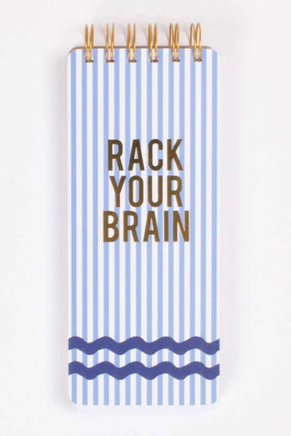 Rack Your Brain Rick Rack Paper List Pad from Southern Sunday, the boutique that gives back. Southern Sunday offers the latest in ladies fashion and accessories at affordable prices. Southern Sunday is located in Midway, KY, outside of Lexington, Kentucky. Shop Southern Sunday online or in store at their boutique.