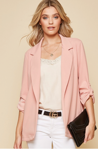 Pink Boyfriend Blazer from Southern Sunday, the boutique that gives back.  Southern Sunday offers the latest in ladies fashion and accessories at affordable prices.  Southern Sunday also offers a selection of gifts and home decor items.  Southern Sunday is located in Midway, KY, outside of Lexington, Kentucky.  Shop Southern Sunday online or in store at their boutique.