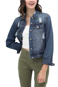 Distressed Denim Jacket from Southern Sunday, the boutique that gives back. Southern Sunday offers the latest in ladies fashion and accessories at affordable prices. Southern Sunday also offers a selection of gifts and home decor items. Southern Sunday is located in Midway, KY, outside of Lexington, Kentucky. Shop Southern Sunday online or in store at their boutique. Free shipping on orders over $75