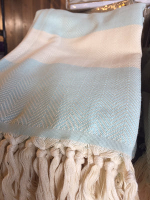 Herringbone- Throw or Towel - Various Colors to choose from