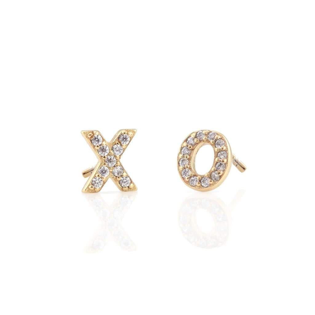 The Kris XO Pave Studs