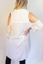 Load image into Gallery viewer, Abby White Tunic Cover-Up