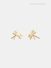 Load image into Gallery viewer, The Kris Palm Tree Earring - Solid Gold