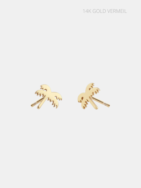The Kris Palm Tree Earring - Solid Gold