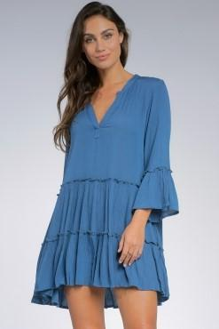 Gabby Dark Denim Midi Dress