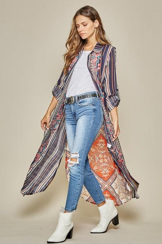 Boho Button Down Embroidery Shirt Dress