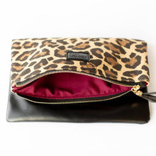 Load image into Gallery viewer, Fold Over Clutch - Leopard