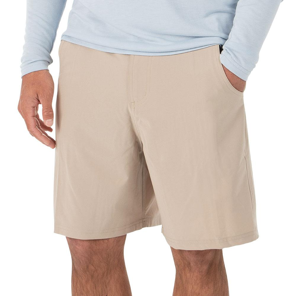Men's Free Fly Bamboo Hybrid Shorts Tan Khaki