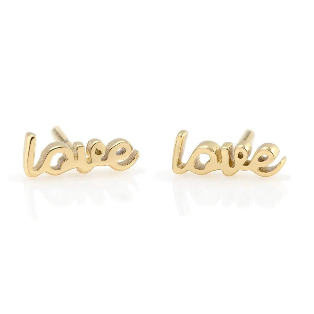 The Kris Love Script Stud Earrings