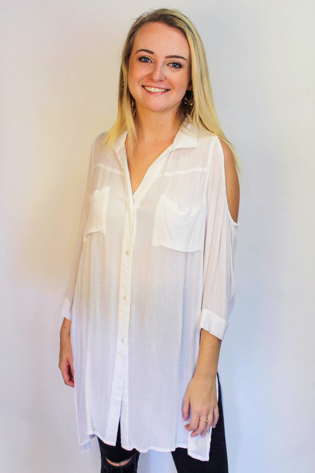 Abby White Tunic Cover-Up