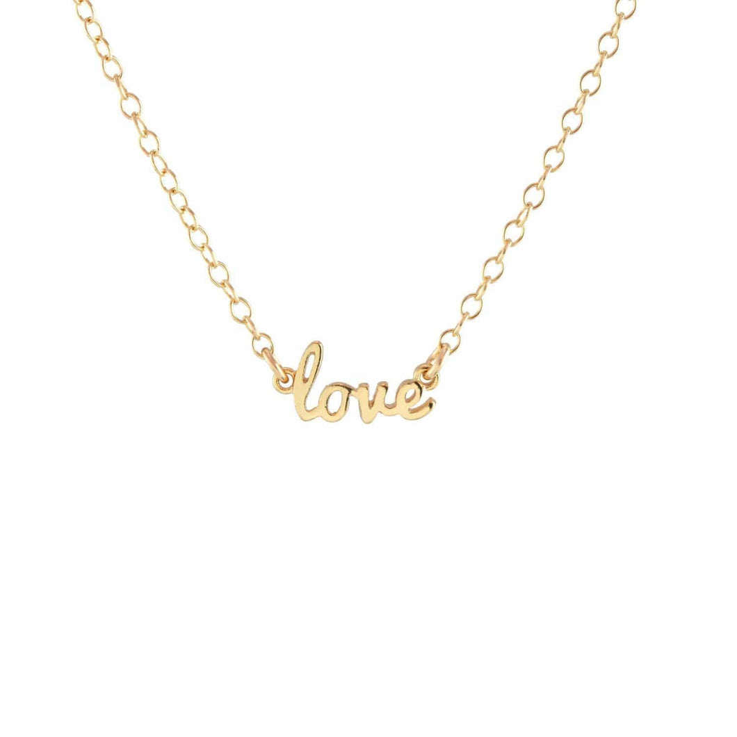 The Kris Love Script Necklace