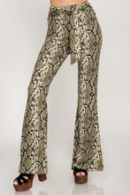 Load image into Gallery viewer, Eliana Snake Skin Flare Pants