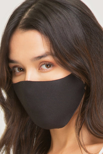 Black Adjustable Breathable Fashion Face Mask