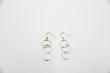 Load image into Gallery viewer, Becky's Hammered Circles - Silver