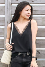 Load image into Gallery viewer, Bayla Black Chiffon Camisole