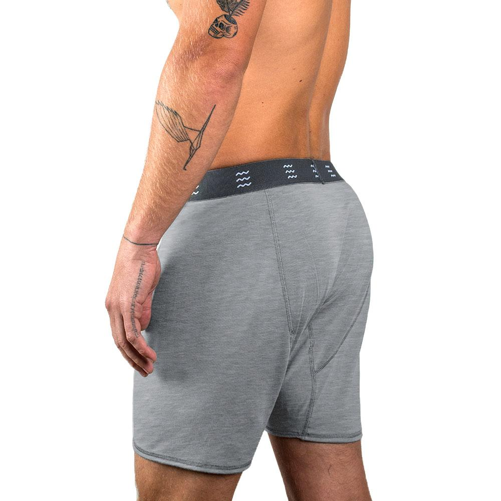 Bamboo Boxer Brief/Heather Grey