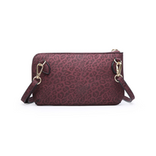 Load image into Gallery viewer, Bree Burgandy Cheetah Print Clutch