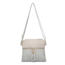Load image into Gallery viewer, Tara Light Grey/Ivory Crossbody