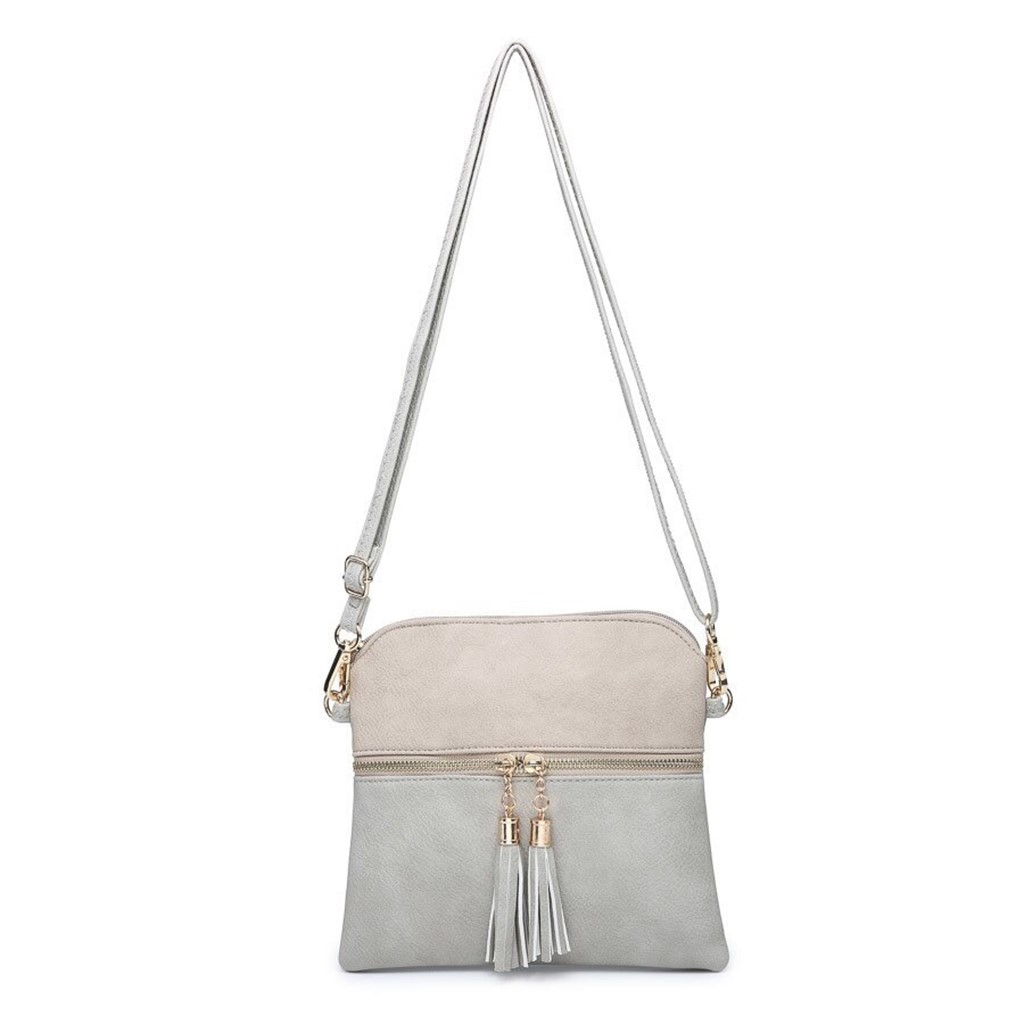 Tara Light Grey/Ivory Crossbody