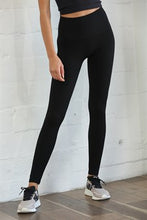 Load image into Gallery viewer, The Ribbed High-Waisted Leggings - Black
