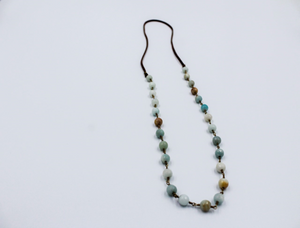 Cherrah Boho Layering Necklace - Amazonite