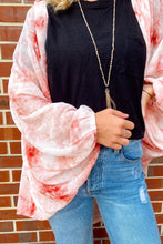 Load image into Gallery viewer, Callie Red Tie Dye Cocoon Kimono