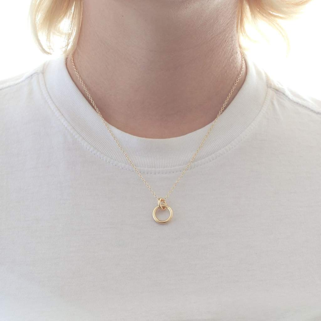 The Kris Double Link Charm Necklace - Gold