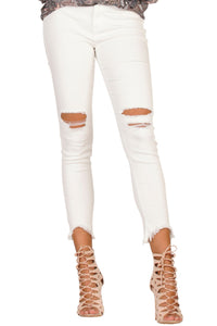 Ensley White Distressed Jeans