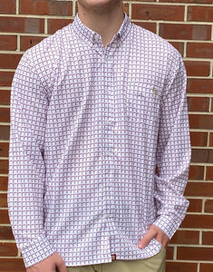 FSU Spear White Button Down
