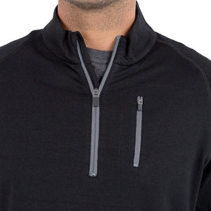 Bamboo Fleece Quarter Zip - Black