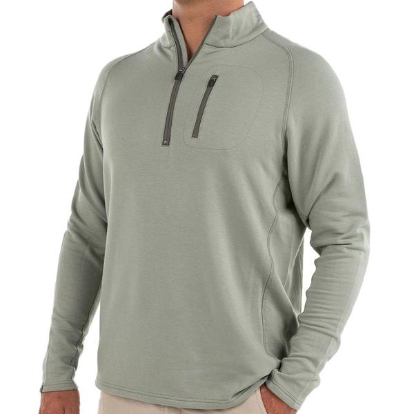 Bamboo Fleece Quarter Zip - Sagebrush