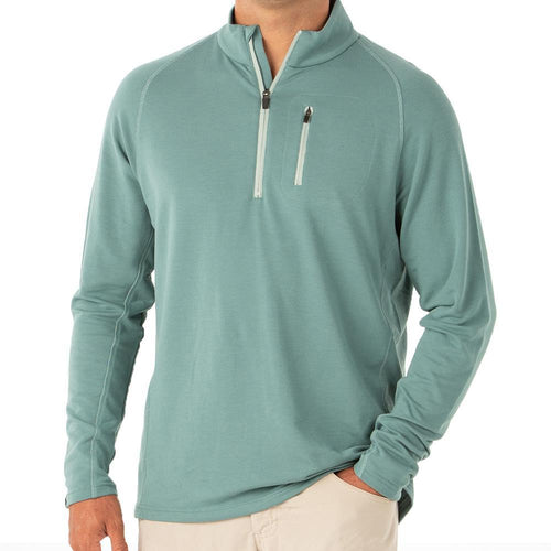 Free Fly Bamboo Fleece Quarter Zip - Spruce Green