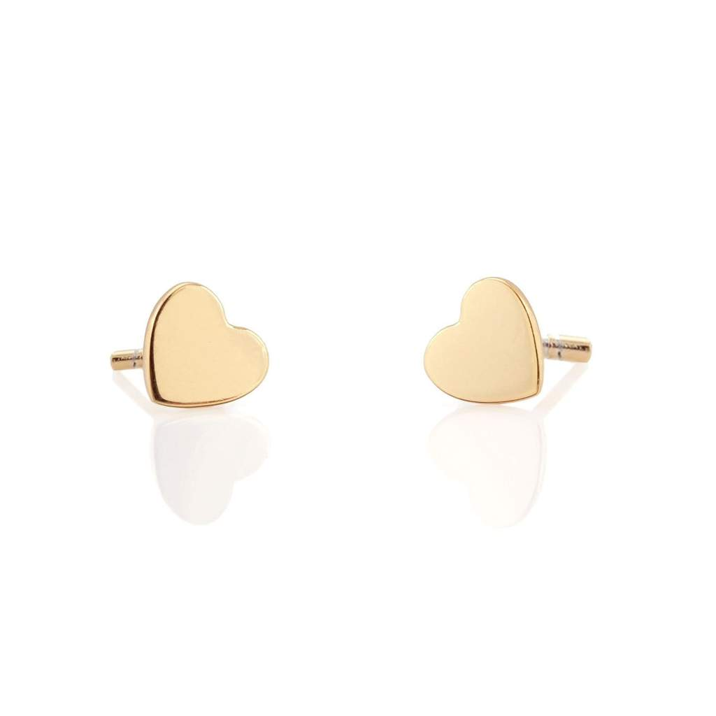 The Kris Heart Stud Earrings - Gold