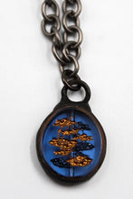 Load image into Gallery viewer, Blue Bonsai Charm Necklace LB Designs #2