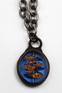 Blue Bonsai Charm Necklace LB Designs #2