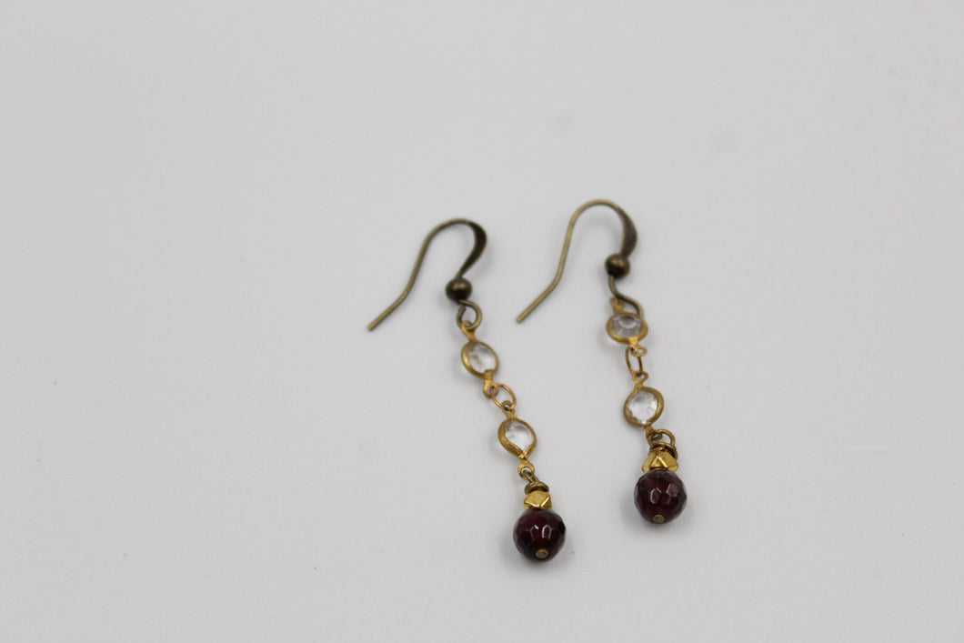 Cherrah Garnet Dainty Dangle