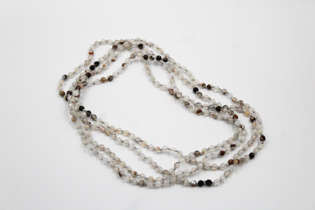 Long Small Bead Necklace