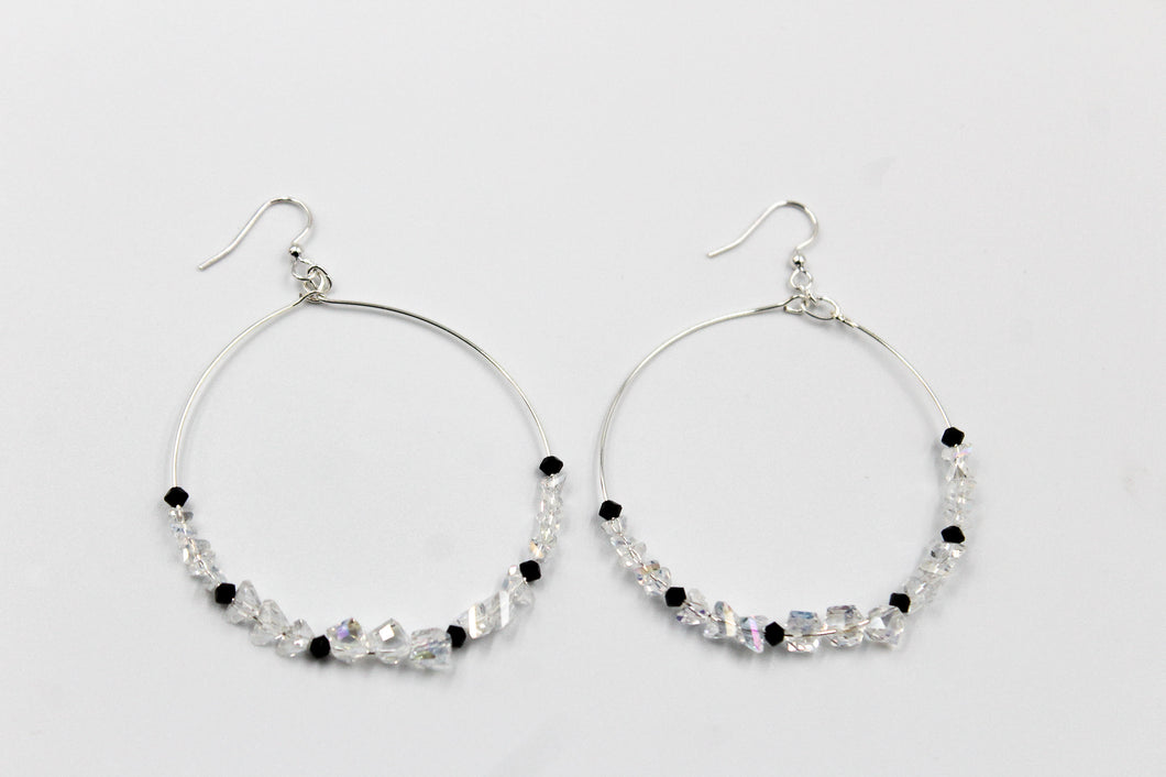Becky's Silver Hoops