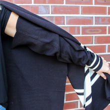 Load image into Gallery viewer, Blair Black Cardigan Poncho