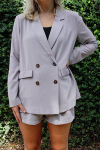 The Nash Blazer - Dusty Lavender