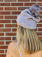 Load image into Gallery viewer, Chenille Hat with Fur Pom Pom