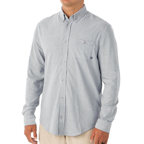 Men's Button Down Long Sleeve Shirt Light Blue Bamboo