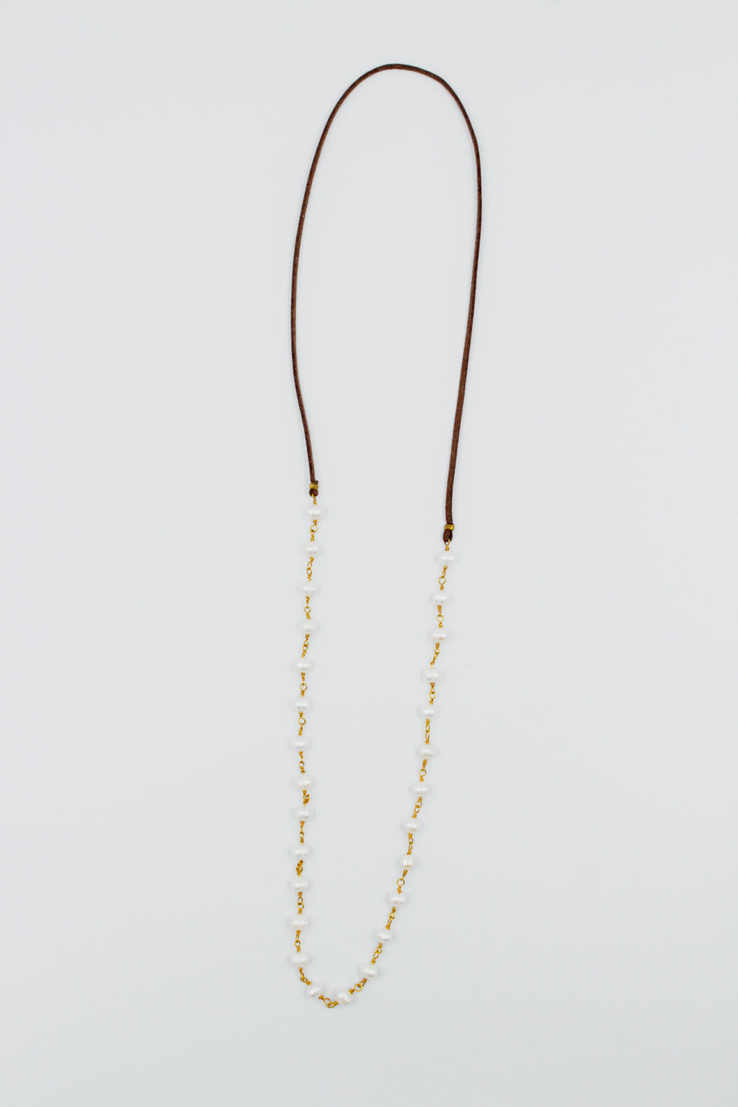 Cherrah Boho Layering Necklace - Pearl