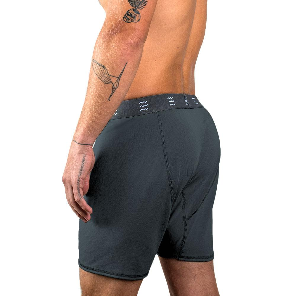 Men's Bamboo Boxer Brief in Blue Dusk